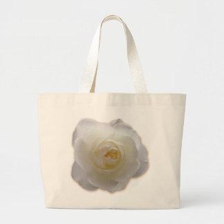White Flower Tote Bag White Rose Beach Tote Bags