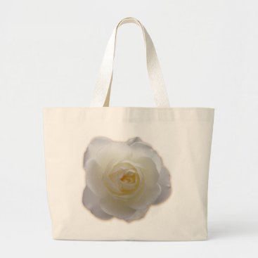 Beach Themed White Flower Tote Bag White Rose Beach Tote Bags