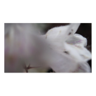 White Flower Trading Card Business Card