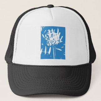 White Flower Trucker Hat