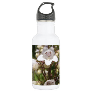 White Flower Water Bottle