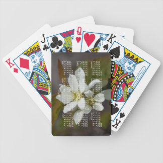 White Flower with Ant; 2013 Calendar Bicycle Playing Cards