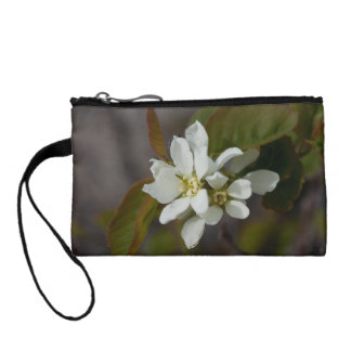 White Flower with Ant Change Purse