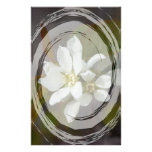 White Flower with Ant Custom Stationery