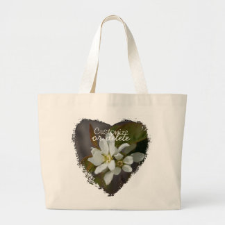 White Flower with Ant; Customizable Large Tote Bag