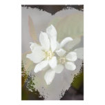 White Flower with Ant Customized Stationery