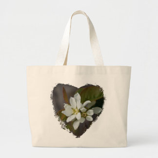 White Flower with Ant Large Tote Bag