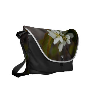 White Flower with Ant Courier Bag