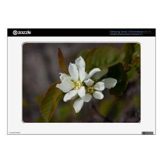 White Flower with Ant Samsung Chromebook Skins