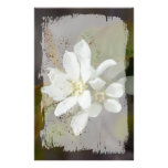 White Flower with Ant Stationery Paper