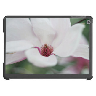 White flower with pink center cover for iPad air