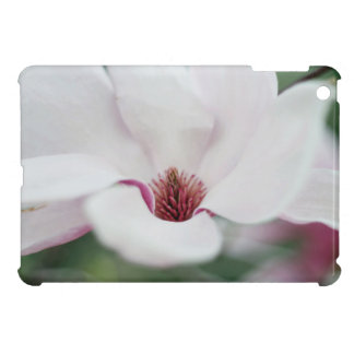 White flower with pink center iPad mini cover