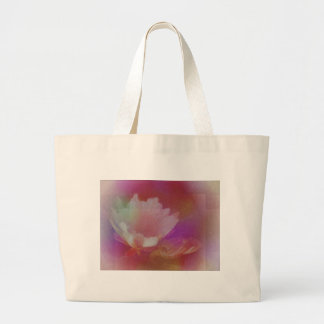 White Flower With Pink Textures Bag