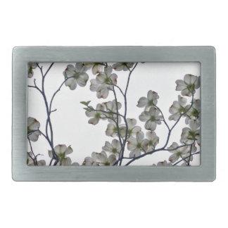 White Flowering Dogwood Belt Buckle