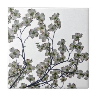 White Flowering Dogwood Tile
