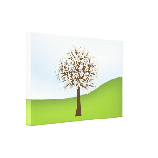 White flowering tree Canvas Canvas Print