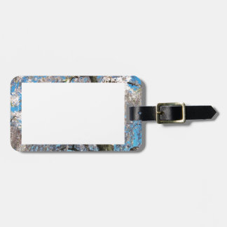 White, Flowering Tree on Luggage Tags