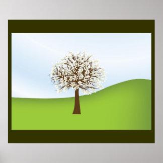 White flowering tree Poster 2