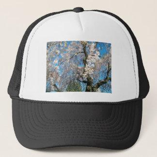 White, Flowering Tree Trucker Hat
