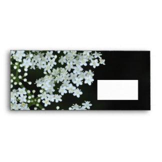 White flowers  - #10 business envelope