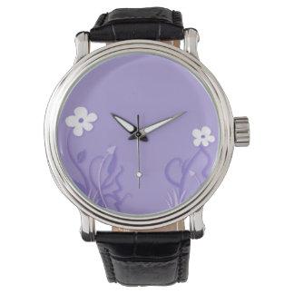 White Flowers 5 Wrist Watches