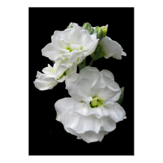 White Flowers ATC Business Card