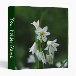 White Flowers Avery Binder