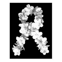 White Flowers Awareness Ribbon Postcard