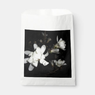 White Flowers Black Background Jasmine Flower Moon Favor Bag