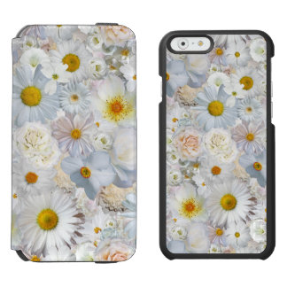 White Flowers Bouquet Floral Wedding Bridal Spring iPhone 6/6s Wallet Case