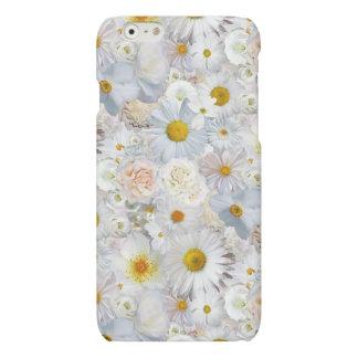 White Flowers Bouquet Floral Wedding Bridal Spring Matte iPhone 6 Case