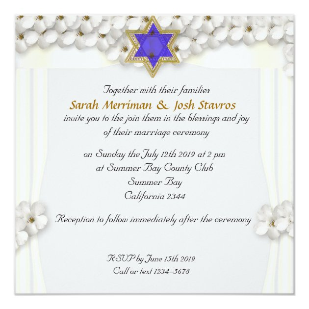 Jewish Invitations Wedding with awesome invitations example