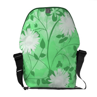 White Flowers Courier Bag