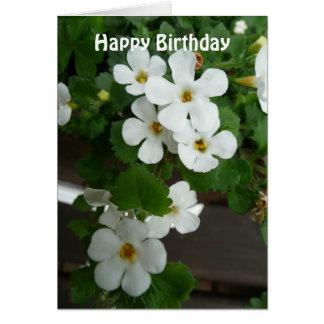 White Flowers Custom Birthday Card Template