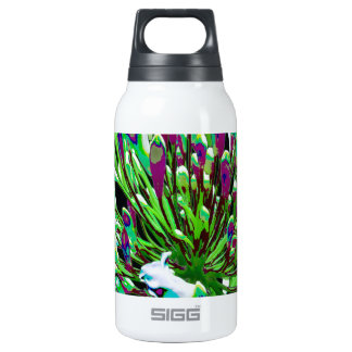 White Flowers Florals Green Bush Romance fun 10 Oz Insulated SIGG Thermos Water Bottle