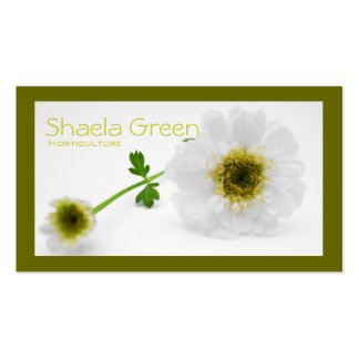 White flowers garden landscape Double-Sided standard business cards (Pack of 100)