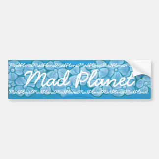 White Flowers Hand Painted on Ripped Fabric Bumper Sticker