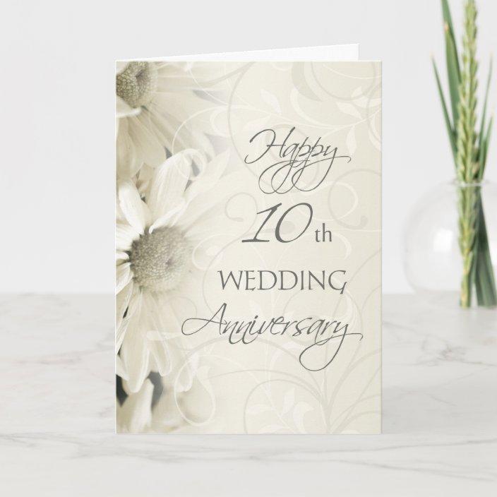 White Flowers Hy 10th Wedding