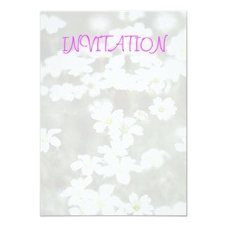 White Flowers Invitation