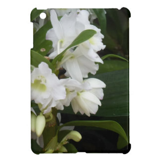 white flowers iPad mini cover