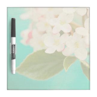 White Flowers IX Dry-Erase Board