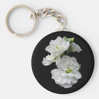 White Flowers Keychain
