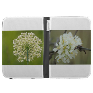 White Flowers Kindle Case