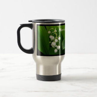 White Flowers Lily of the Valley Travel Mug