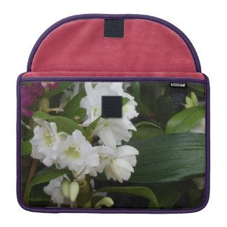White Flowers MacBook Pro Sleeve