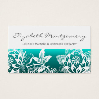 White Flowers Modern Appointment Business Card