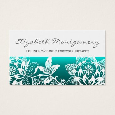 Professional Business White Flowers Modern Appointment Business Card