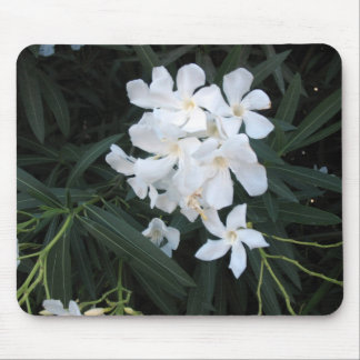 white flowers mouse pads