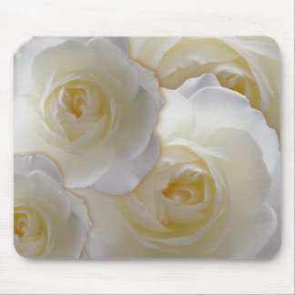 White Flowers Mousepad White Rose Decor Gifts