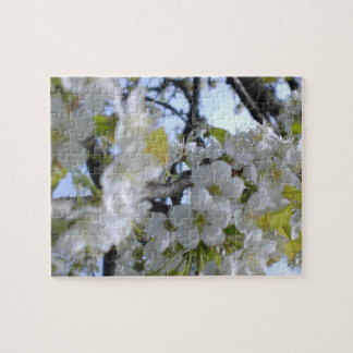 White Flowers on Tree Branches Puzzle